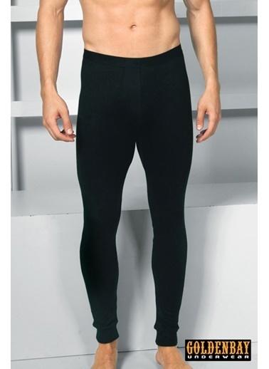 Goldenbay Erkek Normal Bel Uzun Alt Termal Sıcak Tutan İçlik Siyah